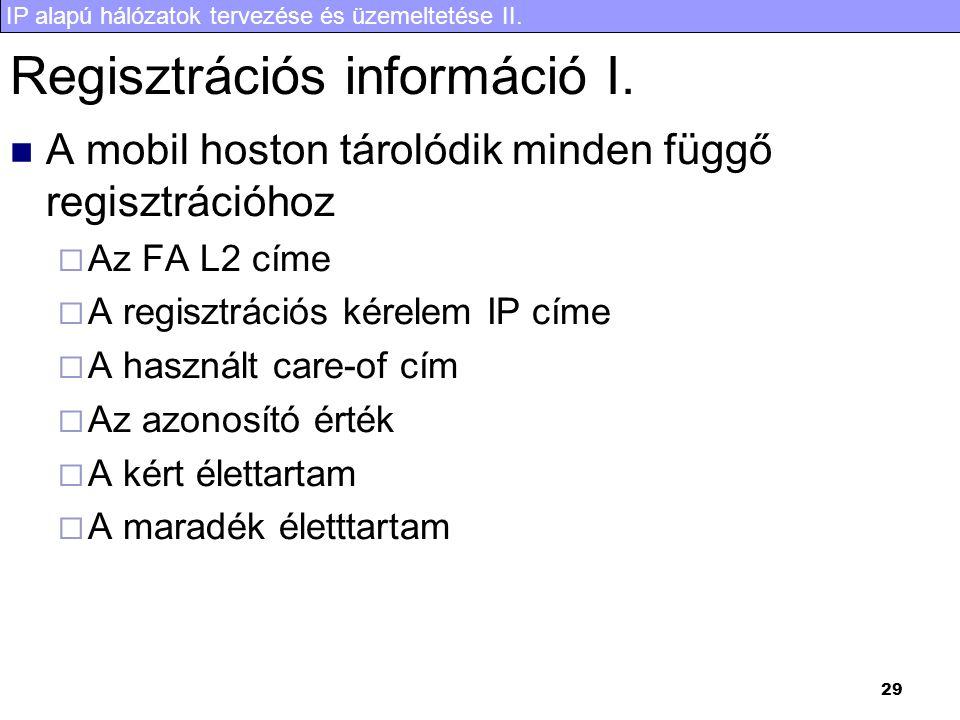 Regisztrációs információ I.
