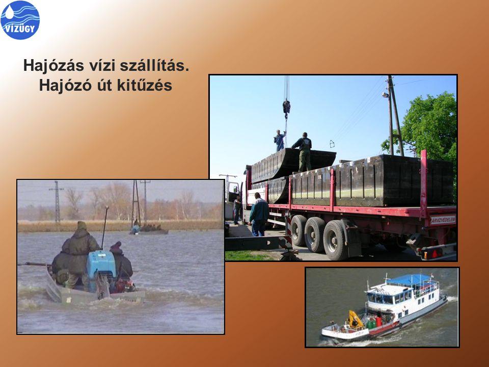 Hajózás vízi szállítás. Hajózó út kitűzés