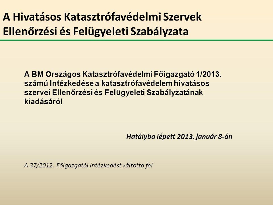 Hatályba lépett 2013. január 8-án