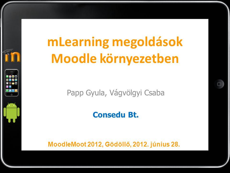 mLearning megoldások Moodle környezetben
