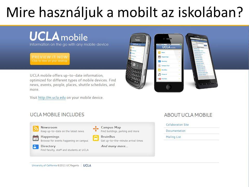 Mire használjuk a mobilt az iskolában