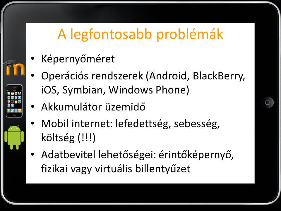 A legfontosabb problémák