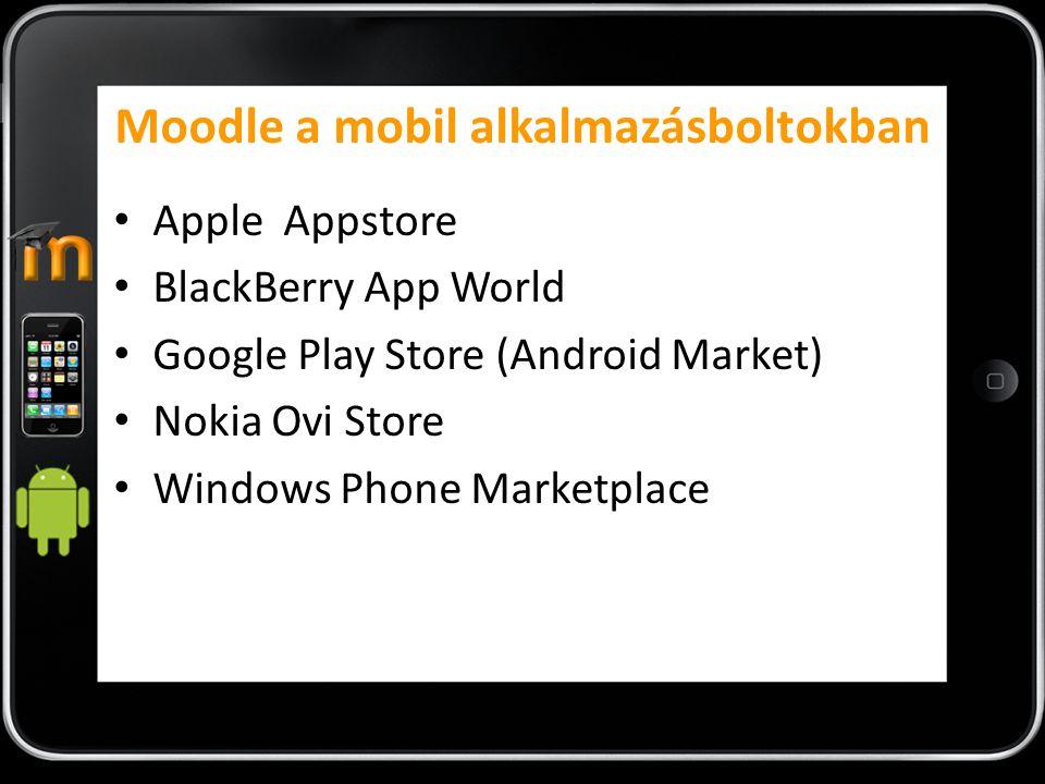 Moodle a mobil alkalmazásboltokban