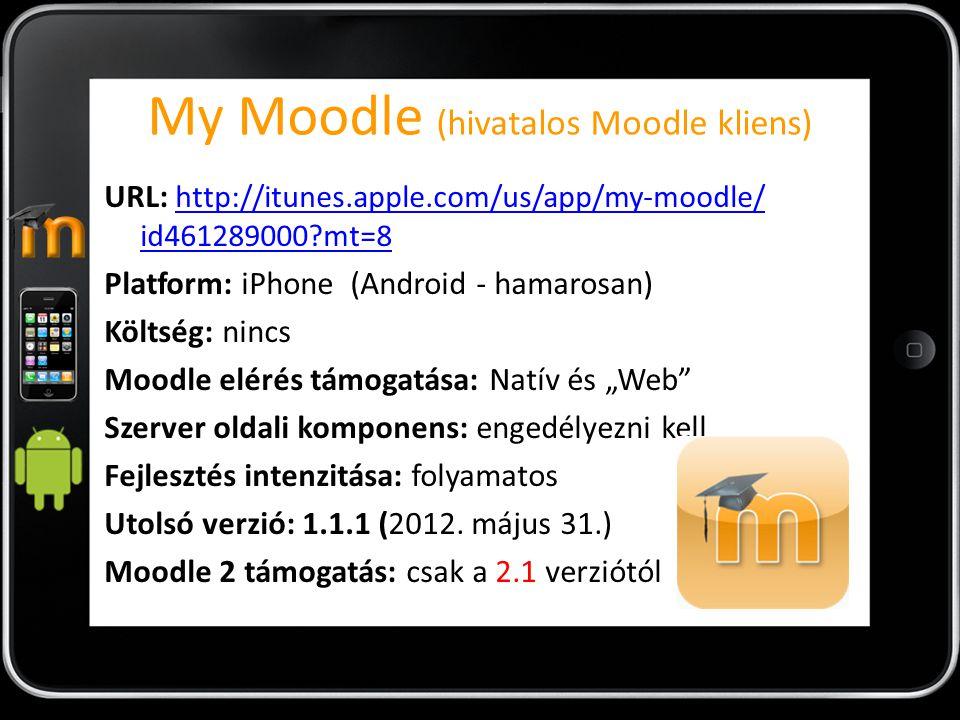 My Moodle (hivatalos Moodle kliens)