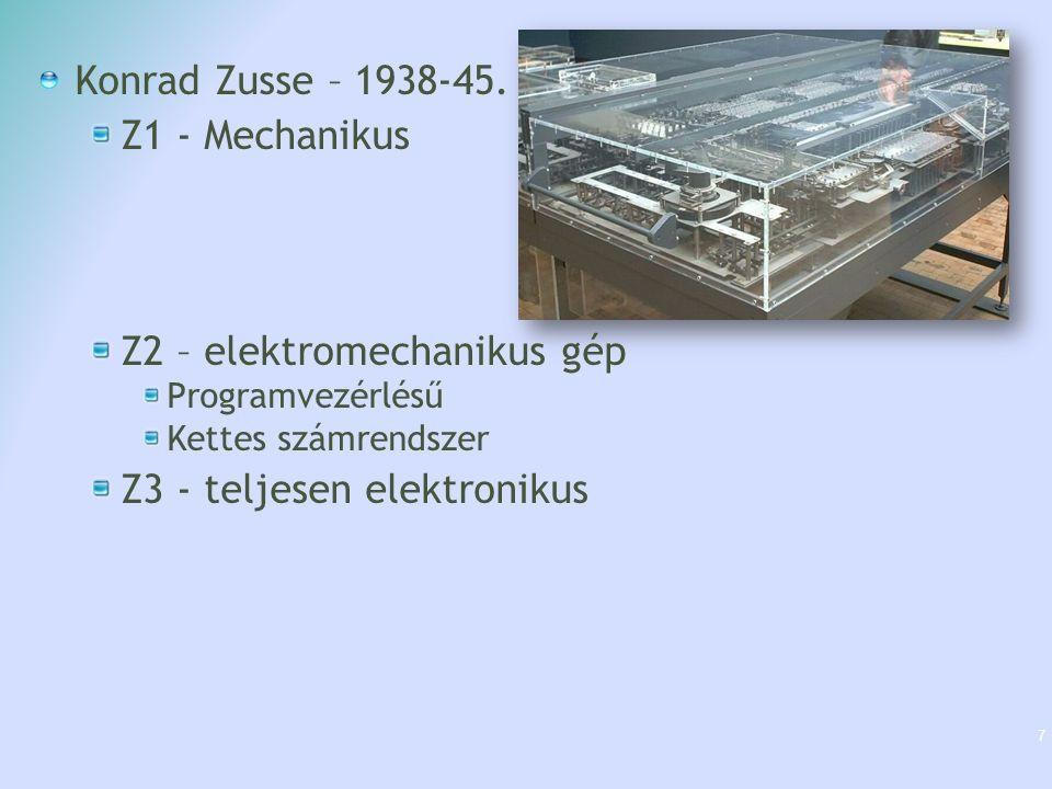 Z2 – elektromechanikus gép