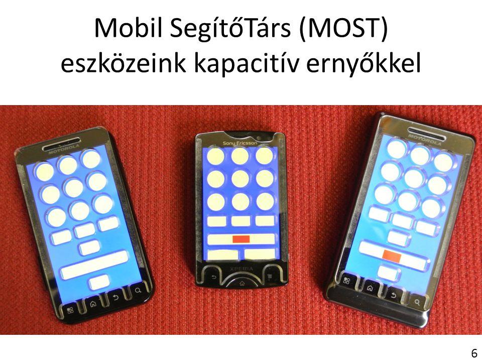 Mobil SegítőTárs (MOST) eszközeink kapacitív ernyőkkel