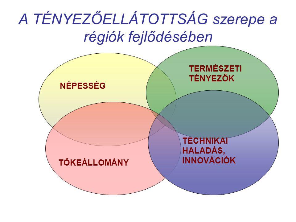 A TÉNYEZŐELLÁTOTTSÁG szerepe a régiók fejlődésében
