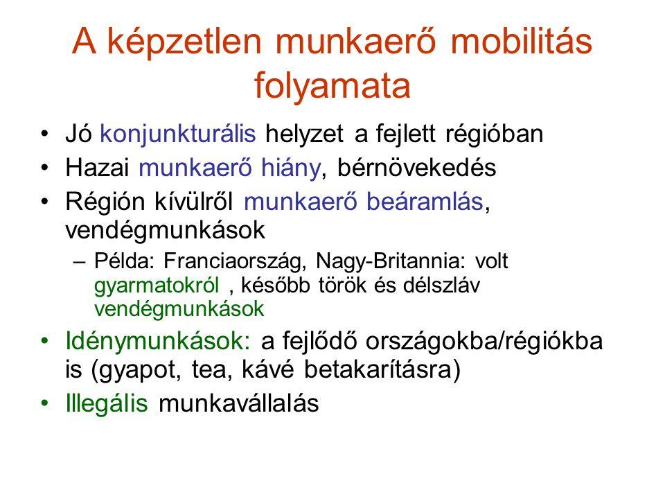 A képzetlen munkaerő mobilitás folyamata