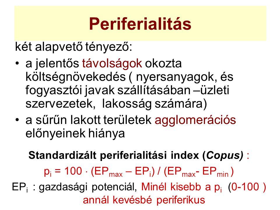 Periferialitás két alapvető tényező: