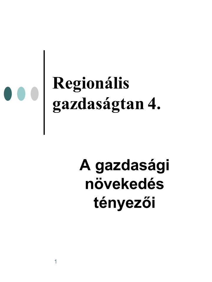 Regionális gazdaságtan 4.