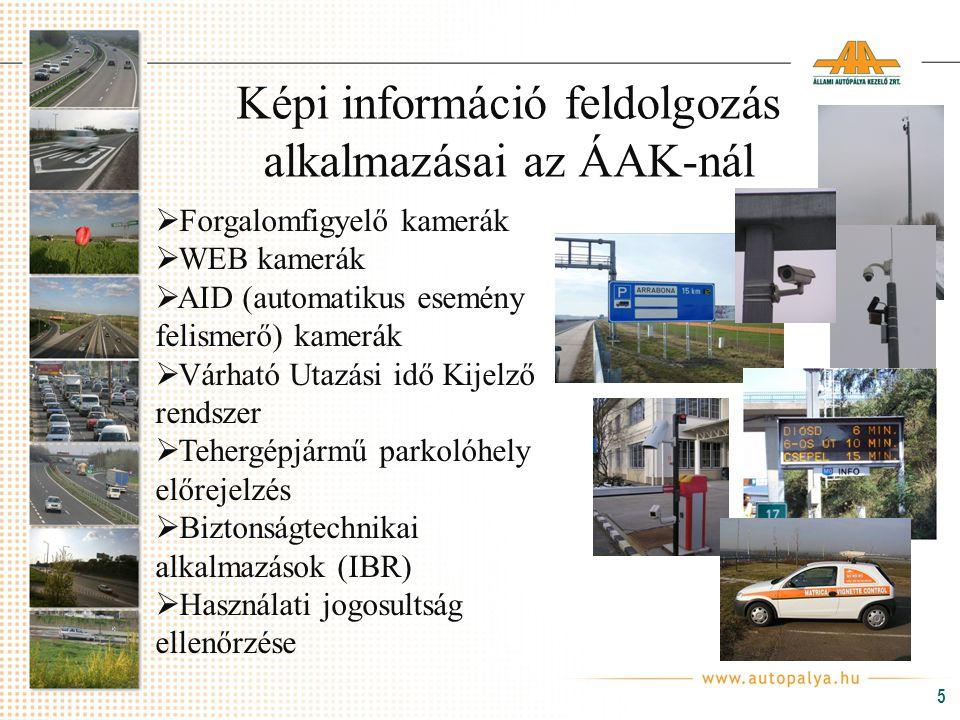 Képi információ feldolgozás alkalmazásai az ÁAK-nál