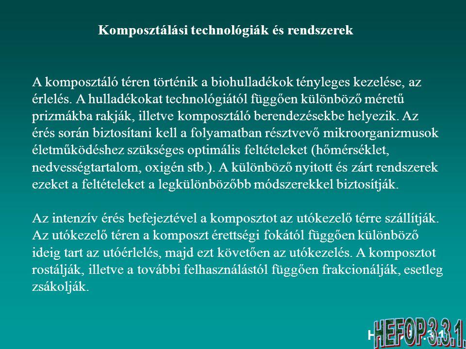 Komposztálási technológiák és rendszerek