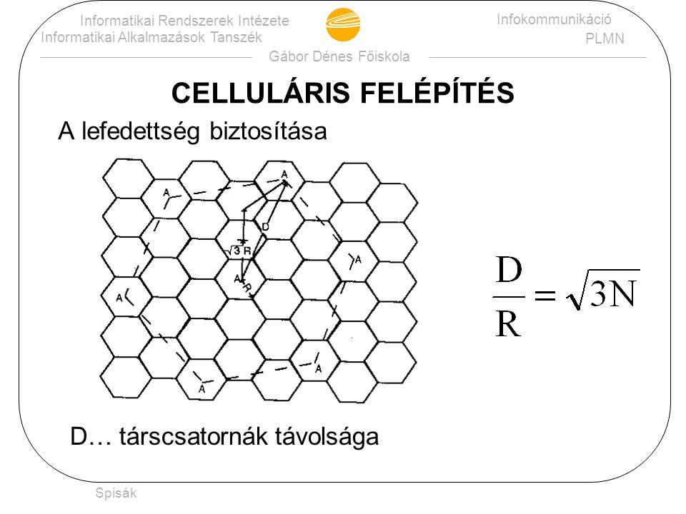 CELLULÁRIS FELÉPÍTÉS A lefedettség biztosítása
