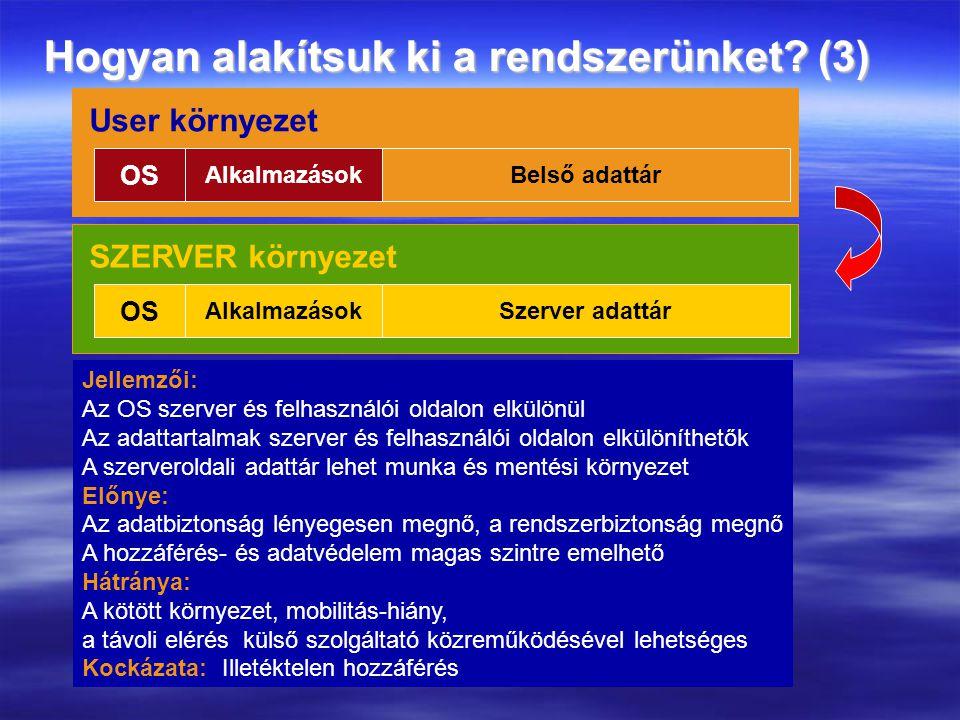 Hogyan alakítsuk ki a rendszerünket (3)