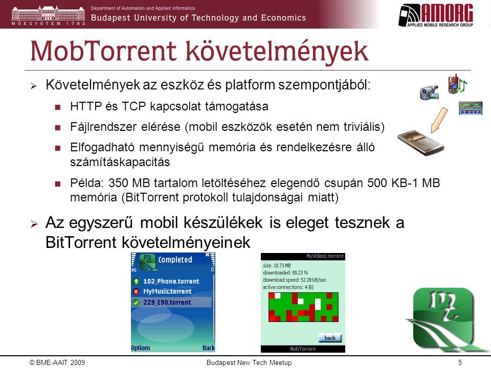 MobTorrent követelmények