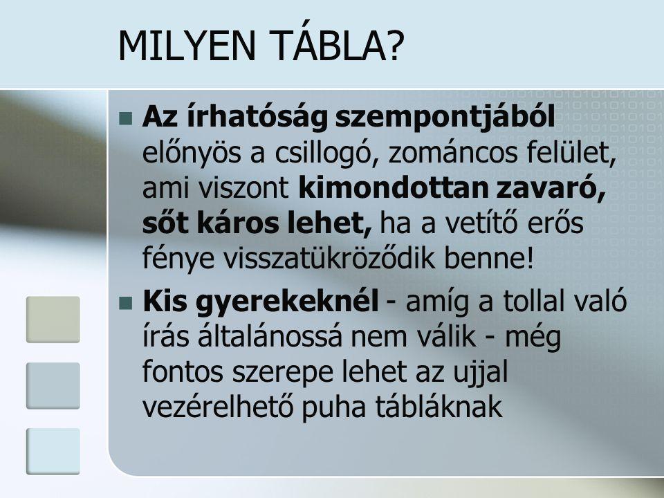 MILYEN TÁBLA
