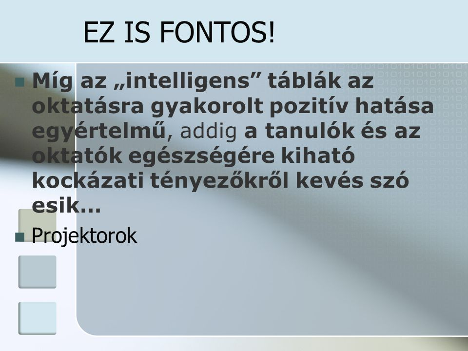 EZ IS FONTOS!