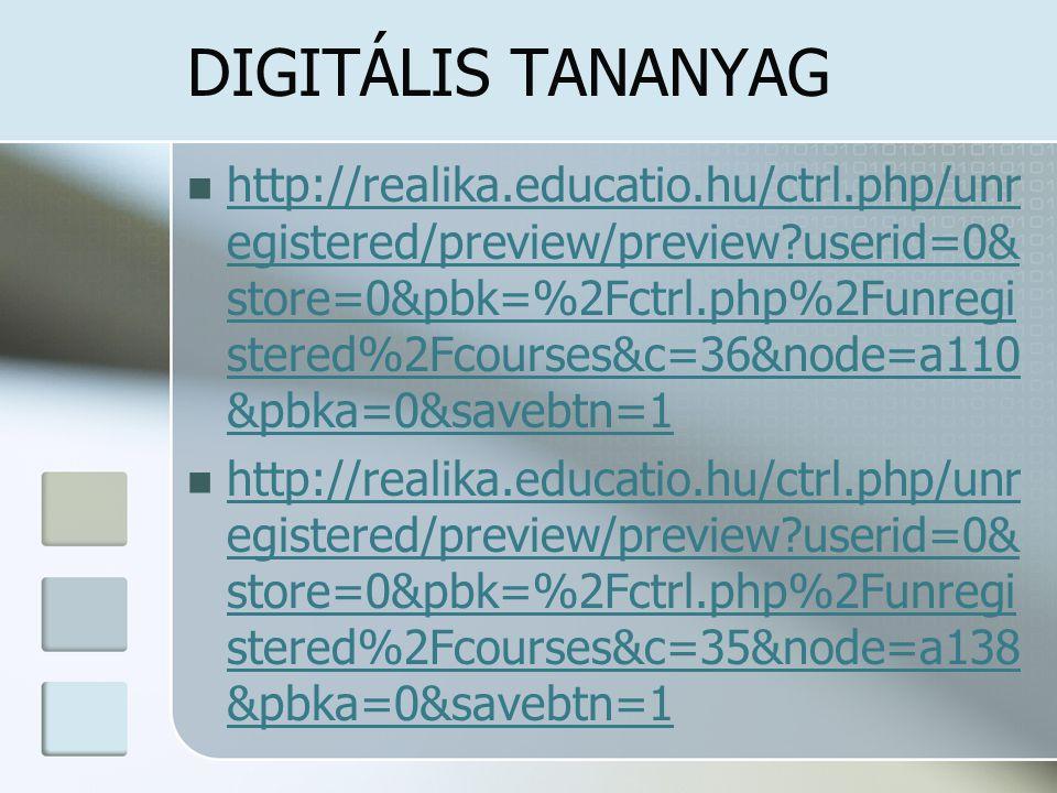 DIGITÁLIS TANANYAG