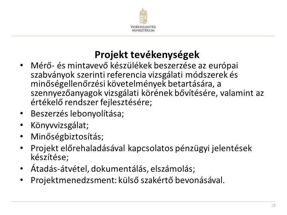 Projekt tevékenységek