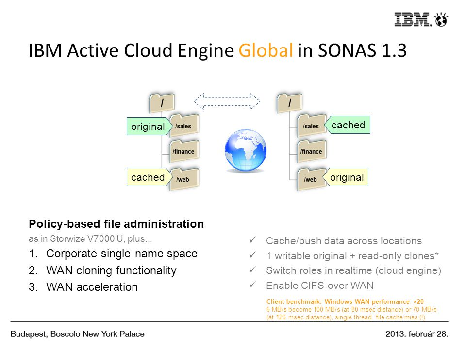 IBM Active Cloud Engine Global in SONAS 1.3