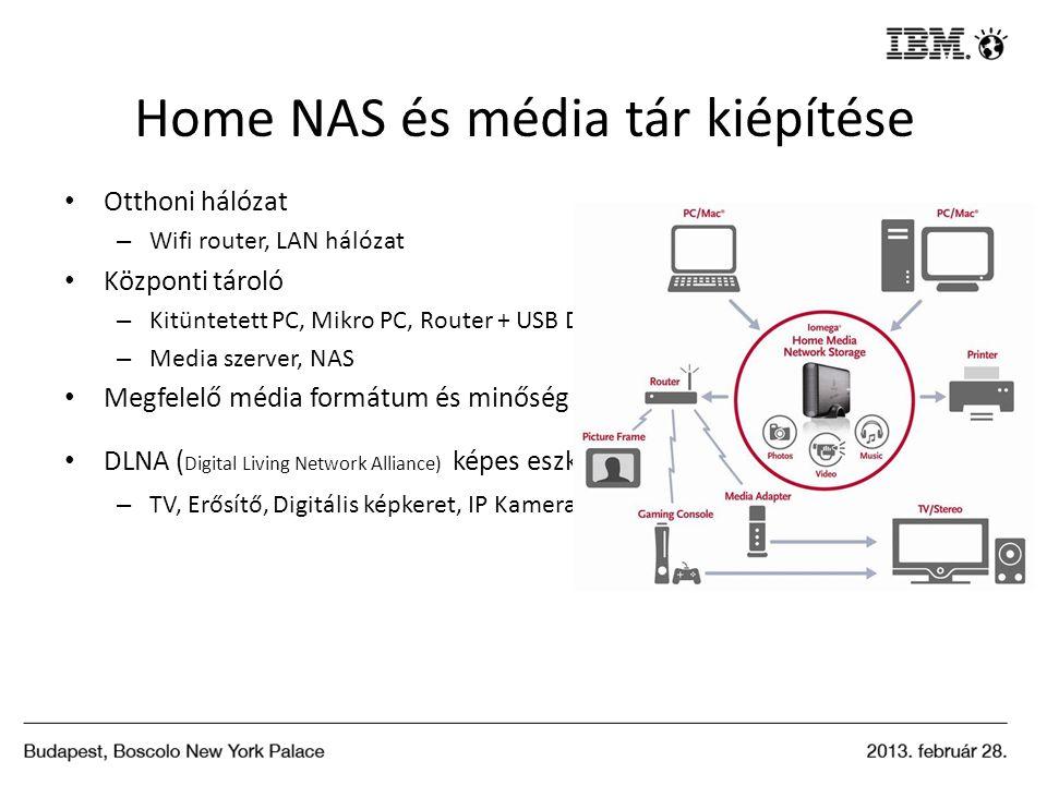 Home NAS és média tár kiépítése