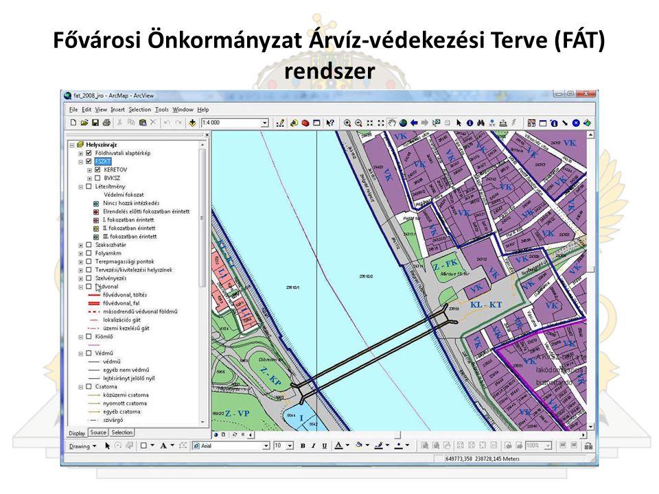 Fővárosi Önkormányzat Árvíz-védekezési Terve (FÁT) rendszer