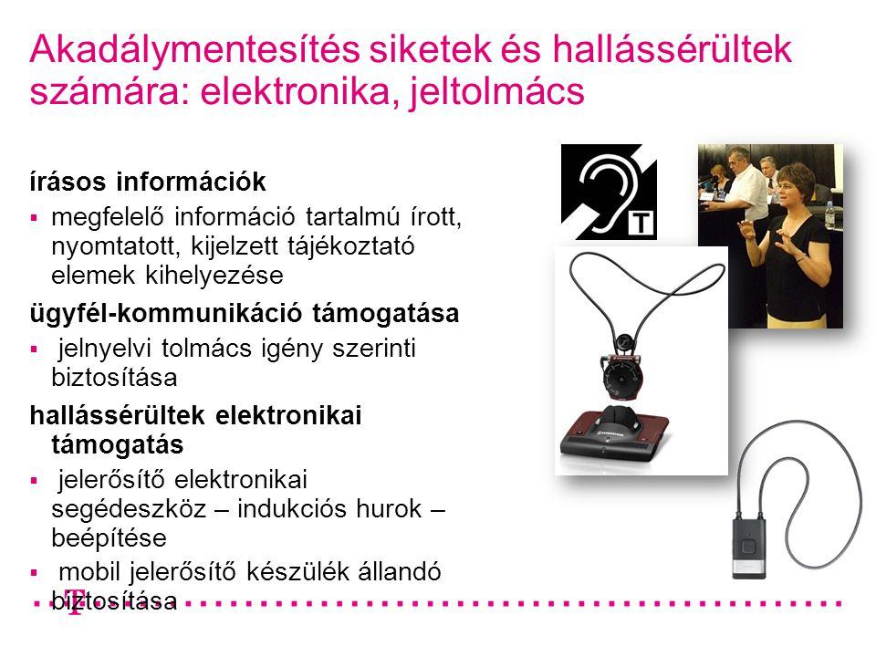 Akadálymentesítés siketek és hallássérültek számára: elektronika, jeltolmács