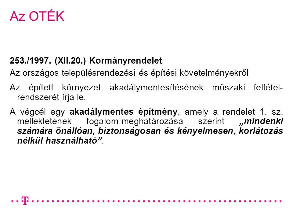 Az OTÉK 253./1997. (XII.20.) Kormányrendelet
