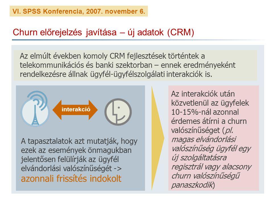 Churn előrejelzés javítása – új adatok (CRM)