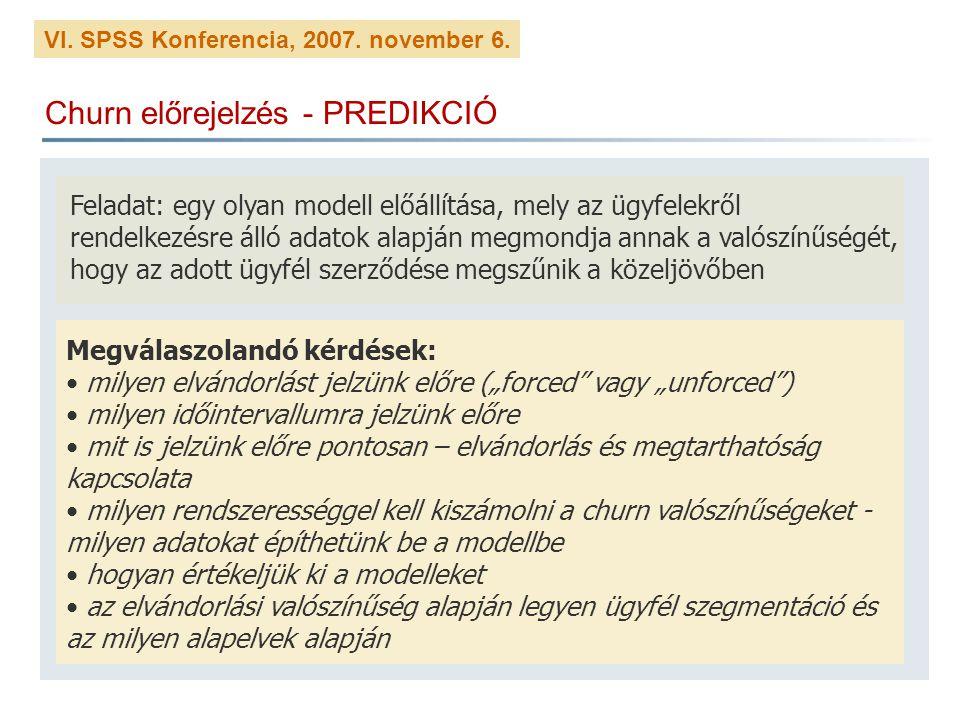 Churn előrejelzés - PREDIKCIÓ