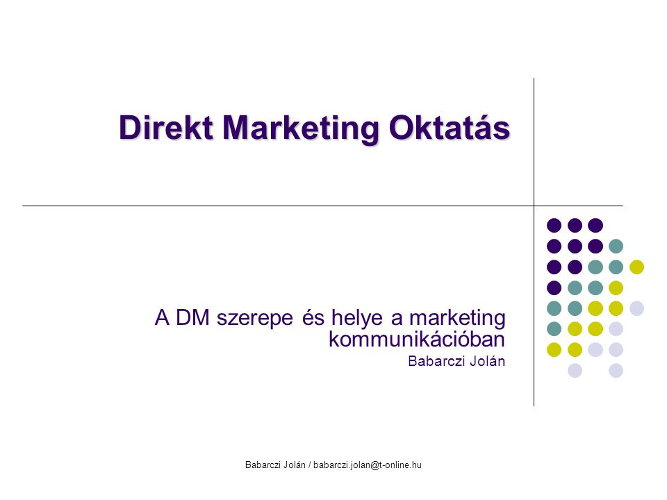 Direkt Marketing Oktatás