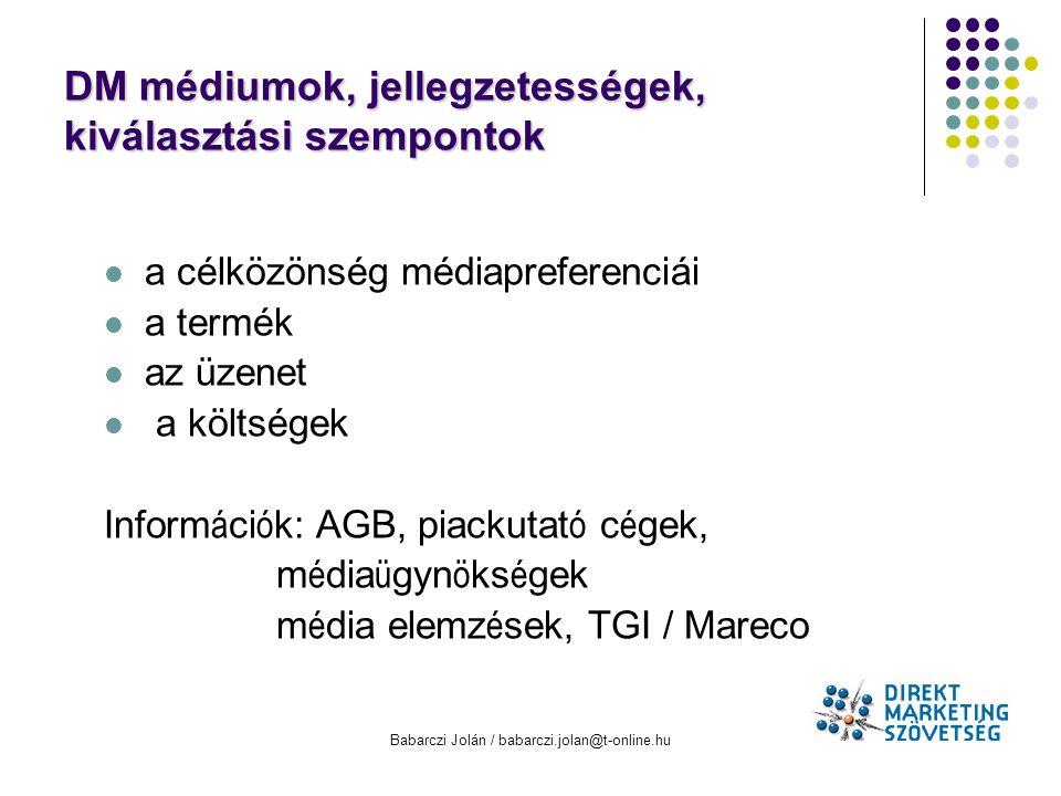 DM médiumok, jellegzetességek, kiválasztási szempontok