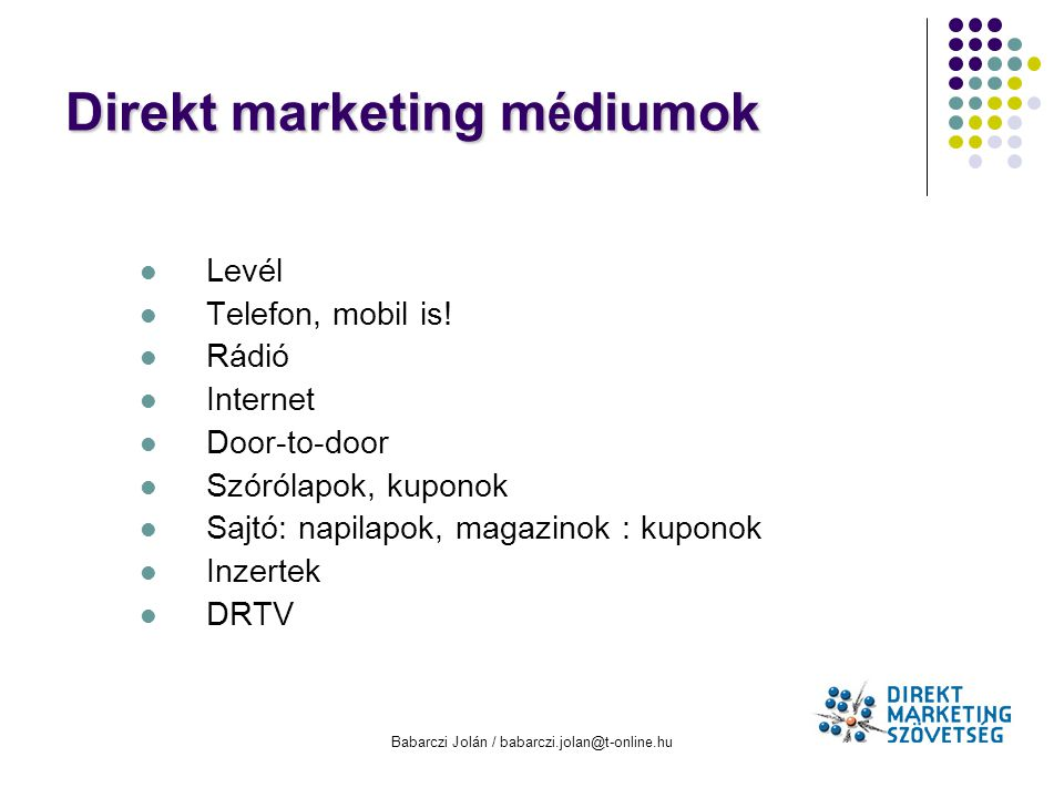 Direkt marketing médiumok