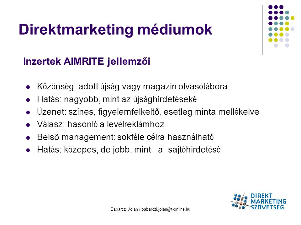 Direktmarketing médiumok