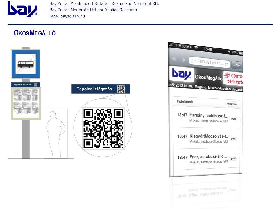 OkosMegálló Egyszerű megoldásokra van szükség, amit az utasok könnyen elérnek klick -> klick -> klick -> eredmény.