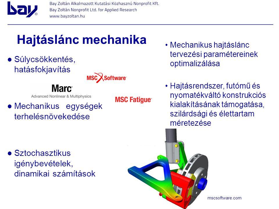 Hajtáslánc mechanika Súlycsökkentés, hatásfokjavítás
