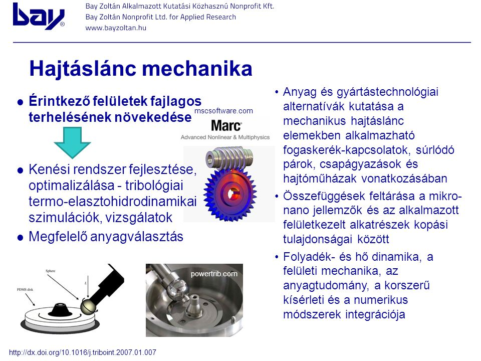 Hajtáslánc mechanika