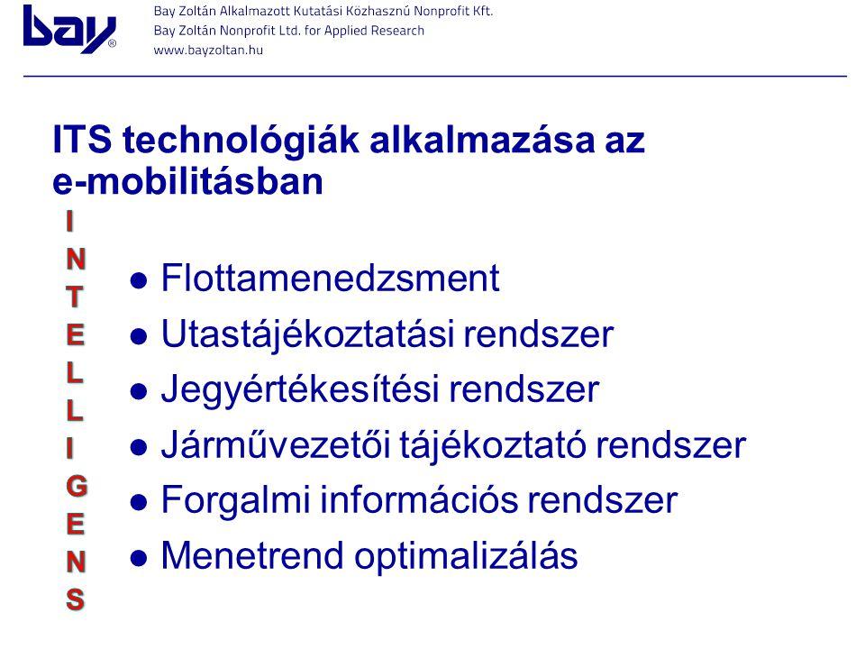 ITS technológiák alkalmazása az e-mobilitásban