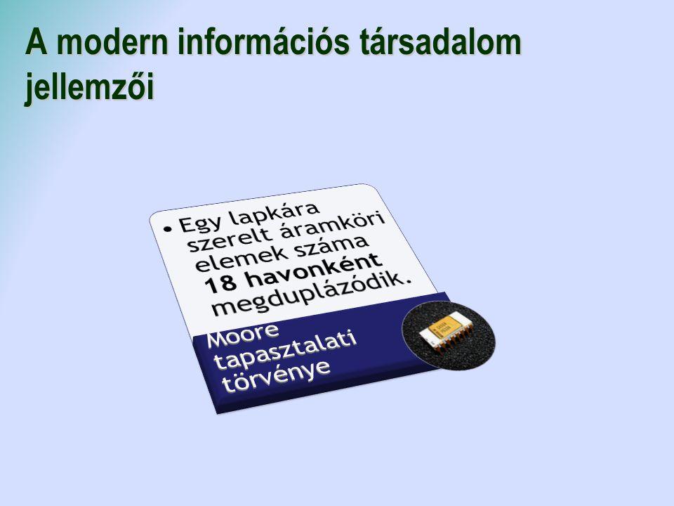 A modern információs társadalom jellemzői