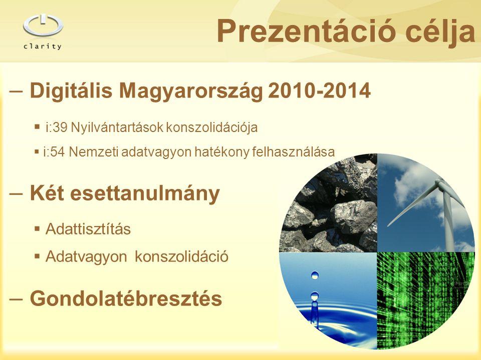 Prezentáció célja Digitális Magyarország 2010-2014 Két esettanulmány