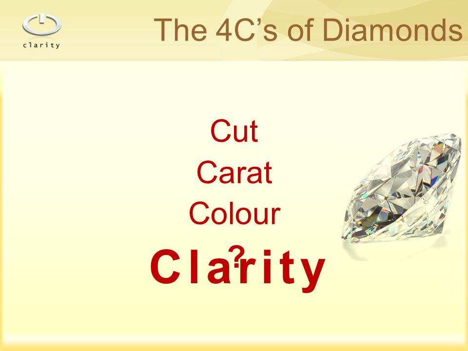 The 4C's of Diamonds Cut Carat Colour Clarity