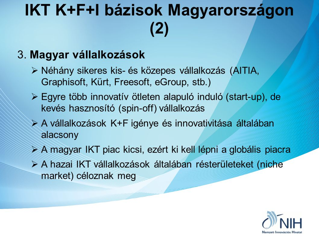 IKT K+F+I bázisok Magyarországon (2)