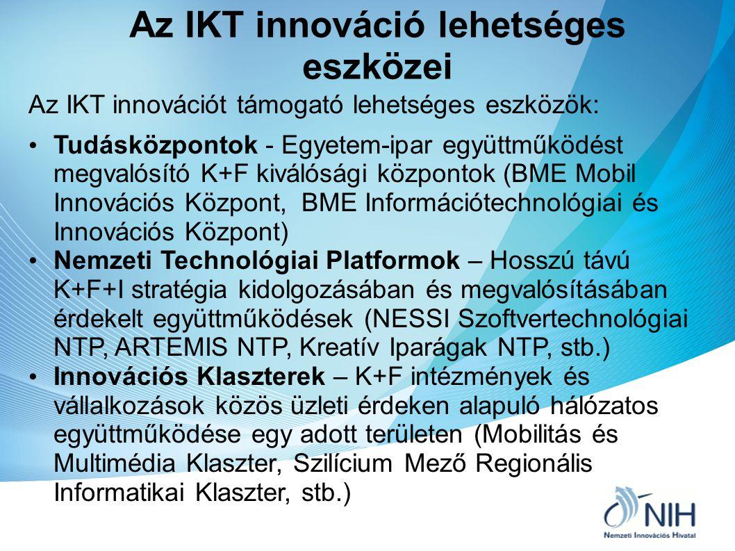 Az IKT innováció lehetséges eszközei
