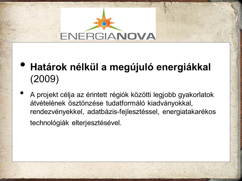 Határok nélkül a megújuló energiákkal (2009)