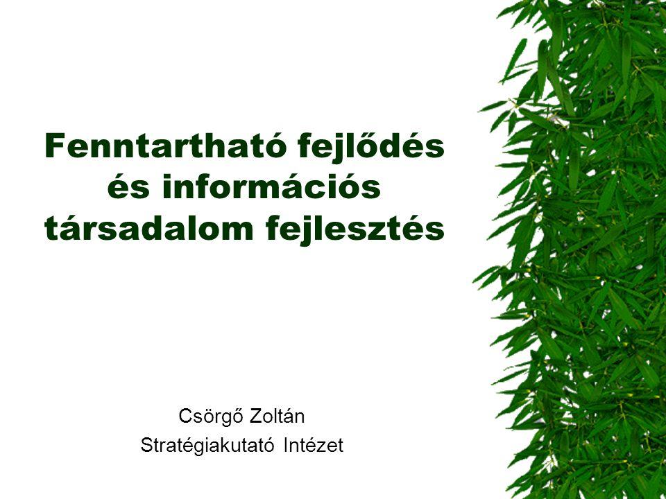 Fenntartható fejlődés és információs társadalom fejlesztés