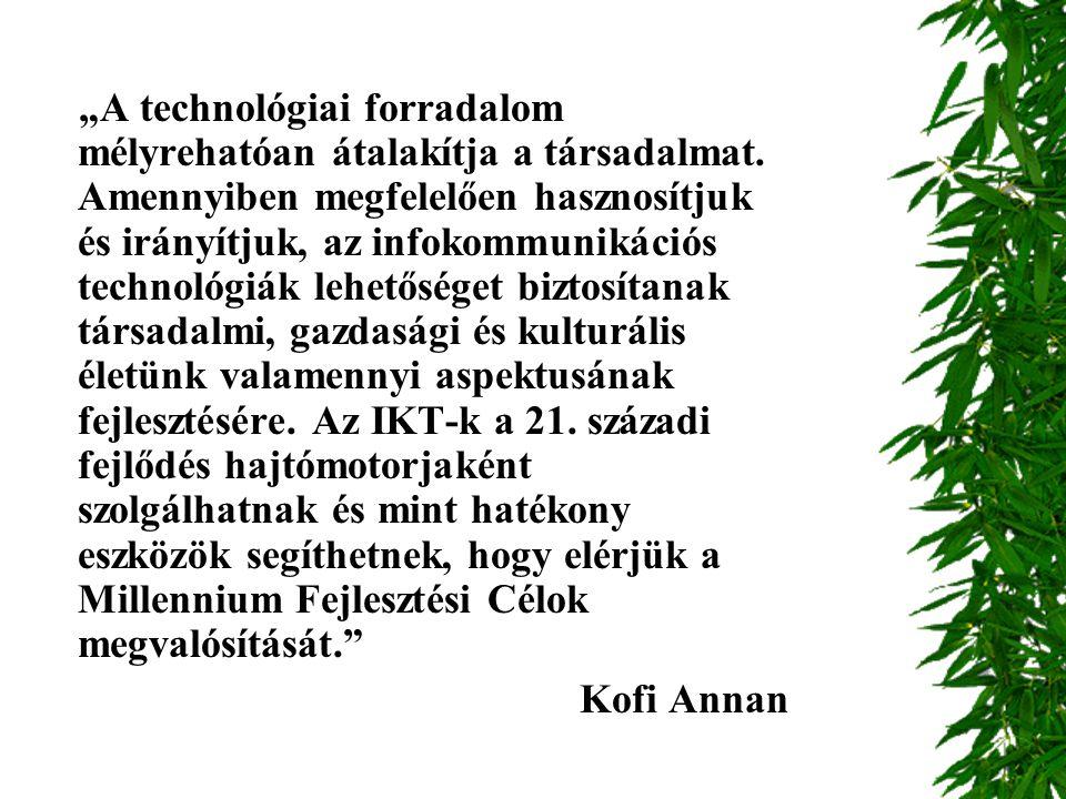 """""""A technológiai forradalom mélyrehatóan átalakítja a társadalmat"""