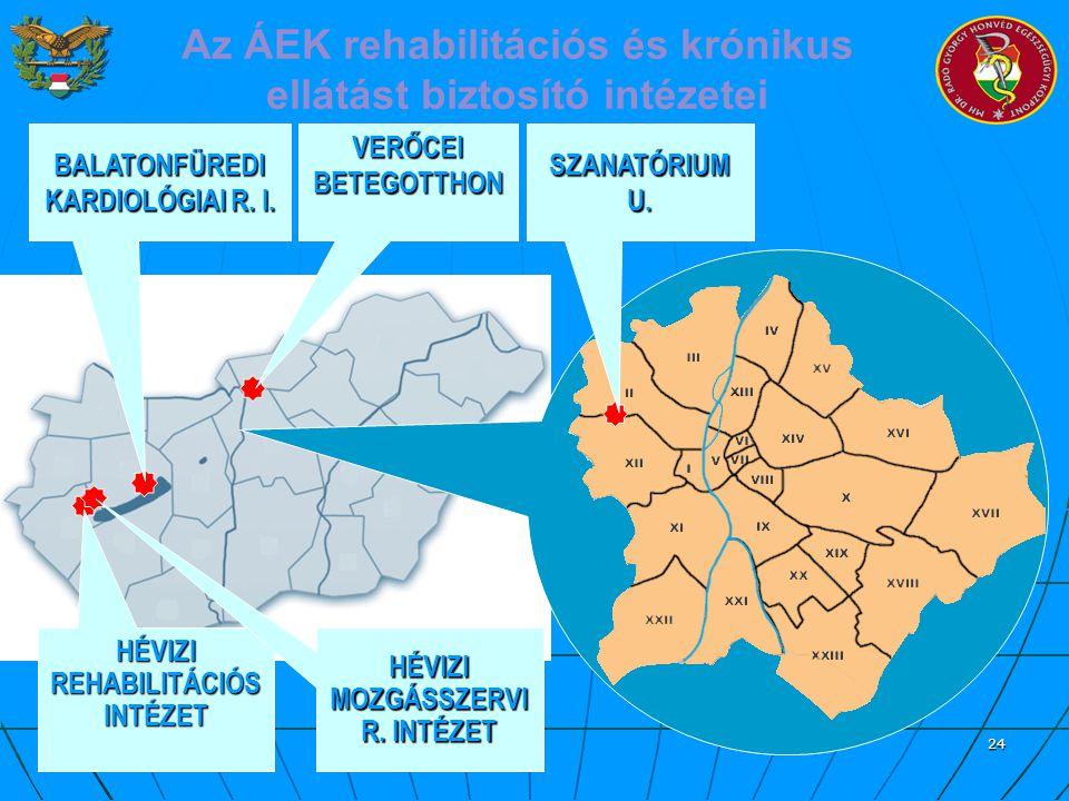 Az ÁEK rehabilitációs és krónikus ellátást biztosító intézetei
