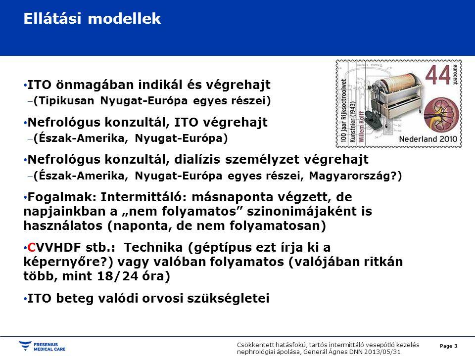 Ellátási modellek ITO önmagában indikál és végrehajt