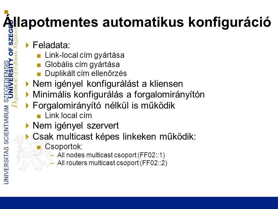 Állapotmentes automatikus konfiguráció