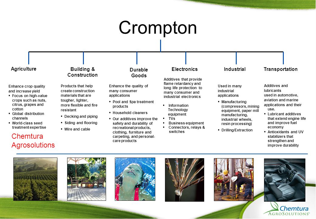 Crompton Chemtura Agrosolutions Agriculture Building & Construction